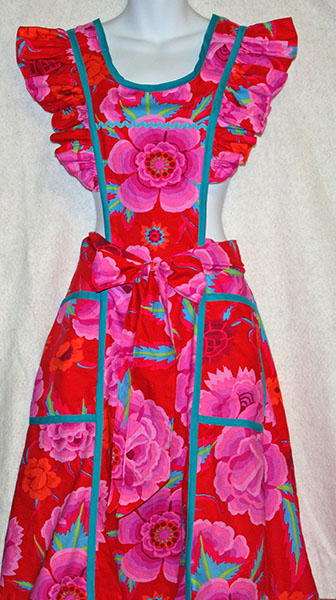 Pink and Red Ruffled Apron